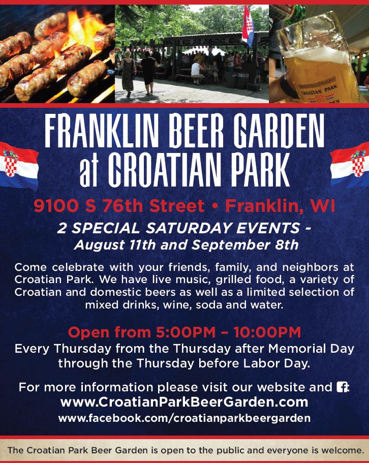 Croatian Park Beer Garden - Milwaukee Croatians